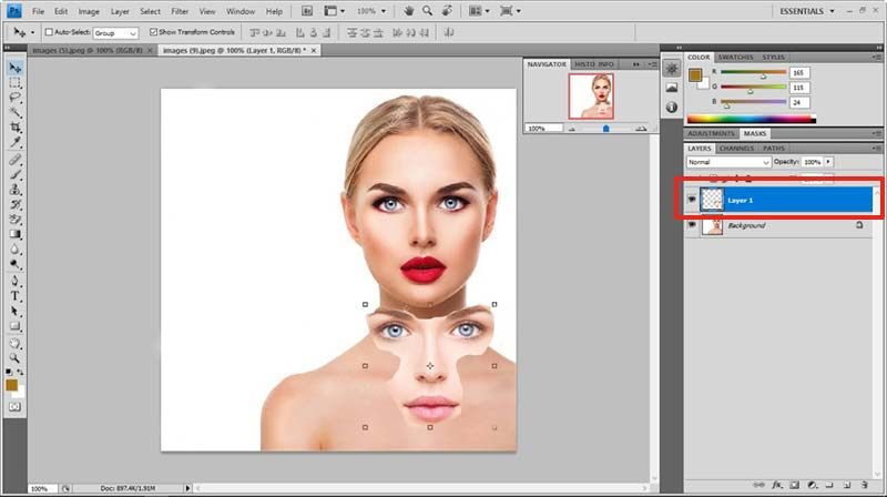face swap in photoshop tutorial 4