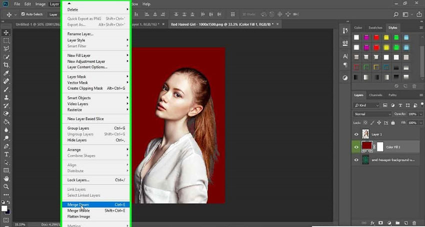 create a new Background Layer Color using the Masking Tool