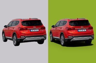 Car image Editing - Background Change Sample