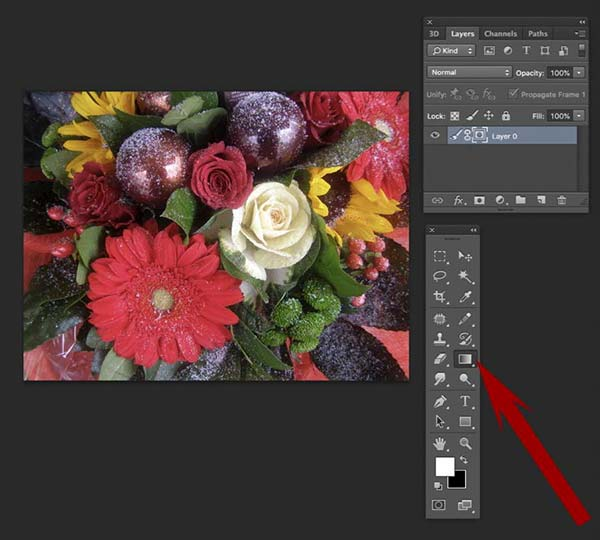 How to fade an image in Photoshop 7