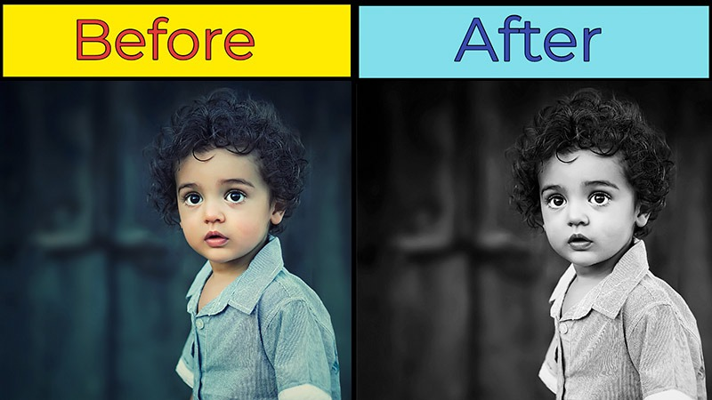 How to Make Black and White Photos in Photoshop 1