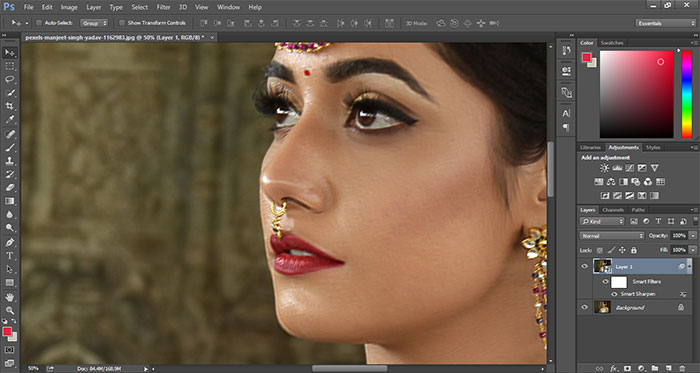How to remove blur in Photoshop 15