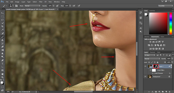 How to remove blur in Photoshop 18