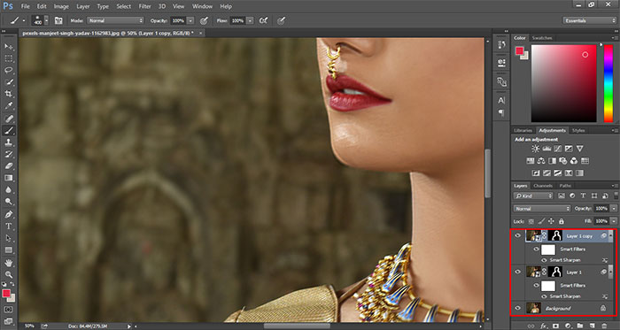 How to remove blur in Photoshop 19