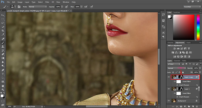 How to remove blur in Photoshop 20