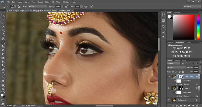 How to remove blur in Photoshop 21