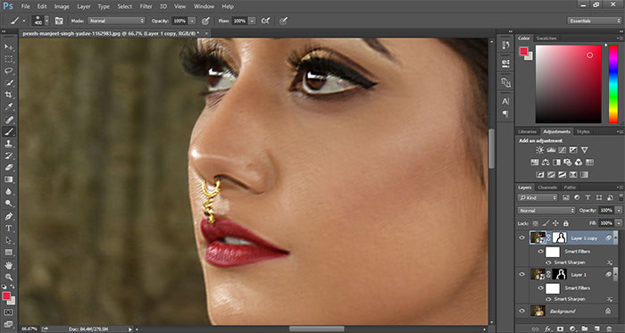 How to remove blur in Photoshop 24