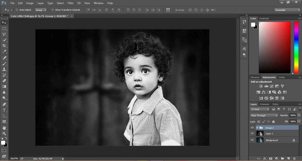 how to make black and white photos in photoshop
