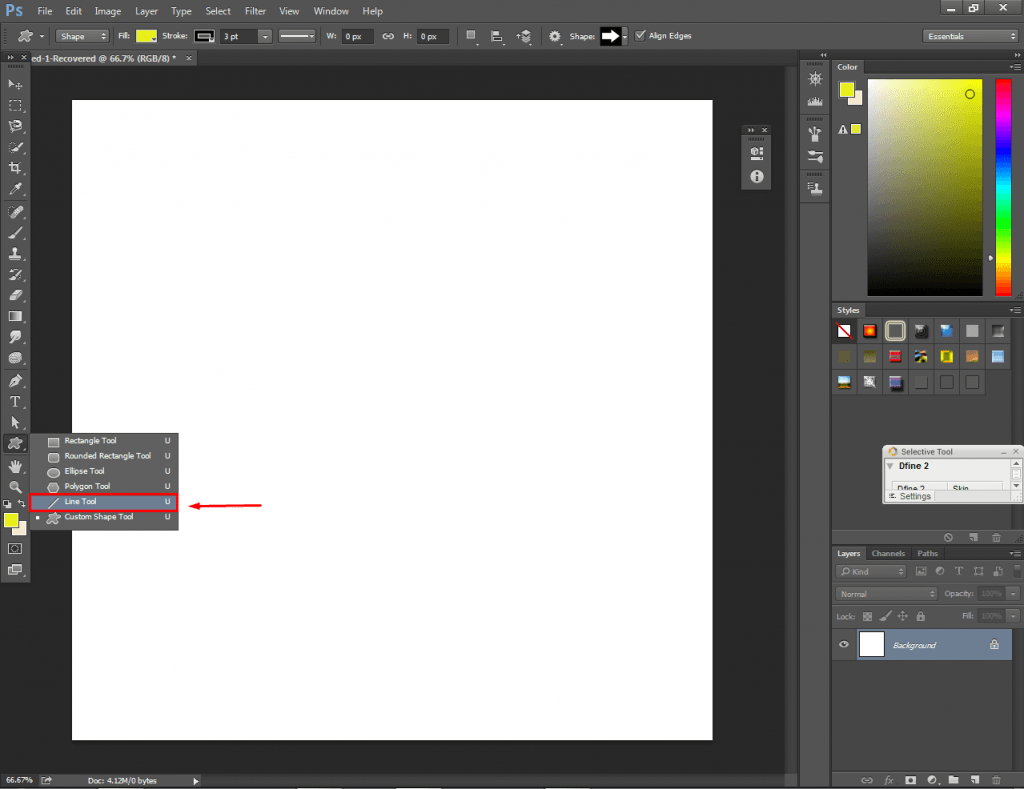Photoshop Line Tool