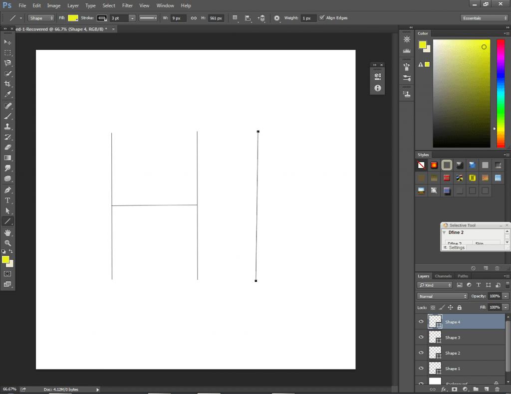 line shape