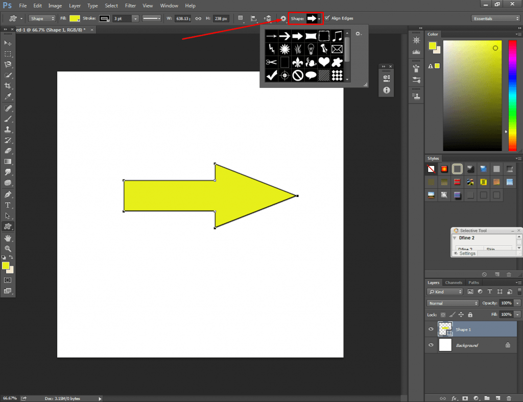 Photoshop Arrow Tool