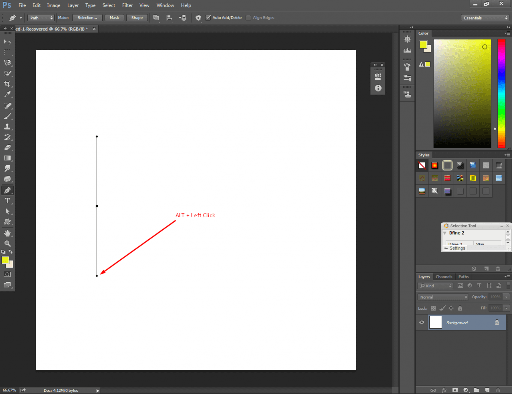 Draw Curved Lines in Photoshop