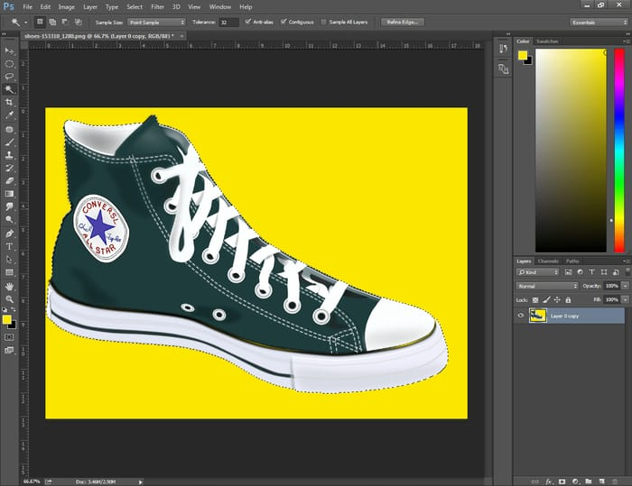 how to invert selection photoshop