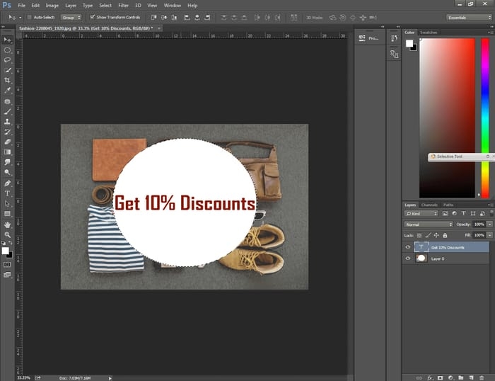 How to Center Text in Photoshop