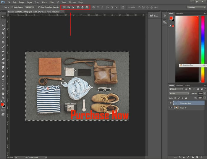 How to Center Text in Photoshop ( 4 Easy Way ) 2