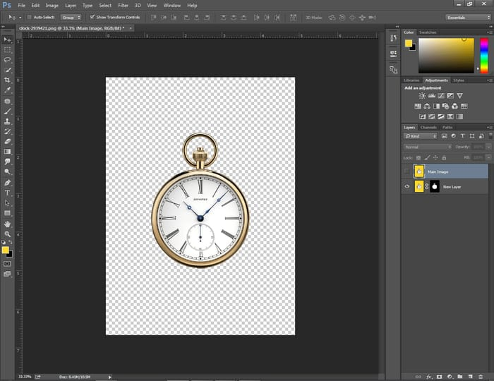 move a mask in Photoshop