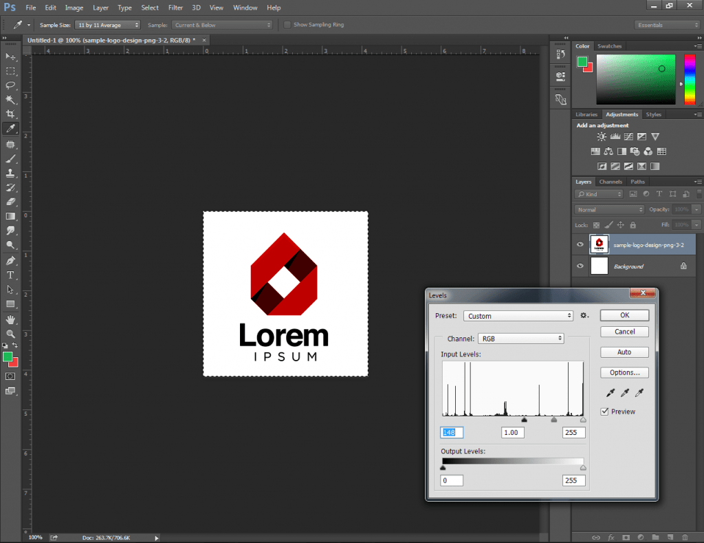 Convert Your Logo to a Brush