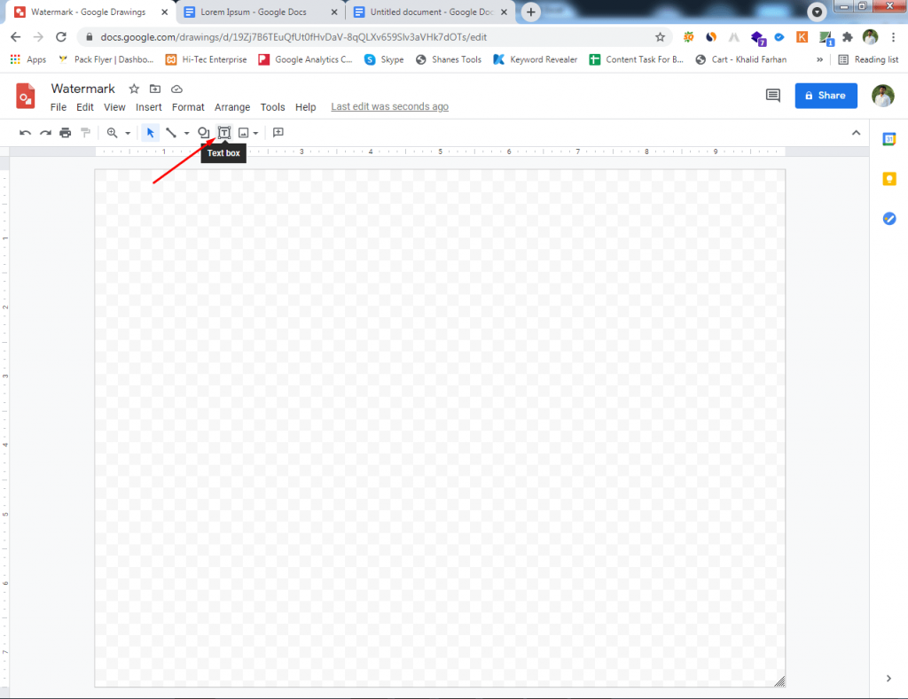 Go to Google Drawing