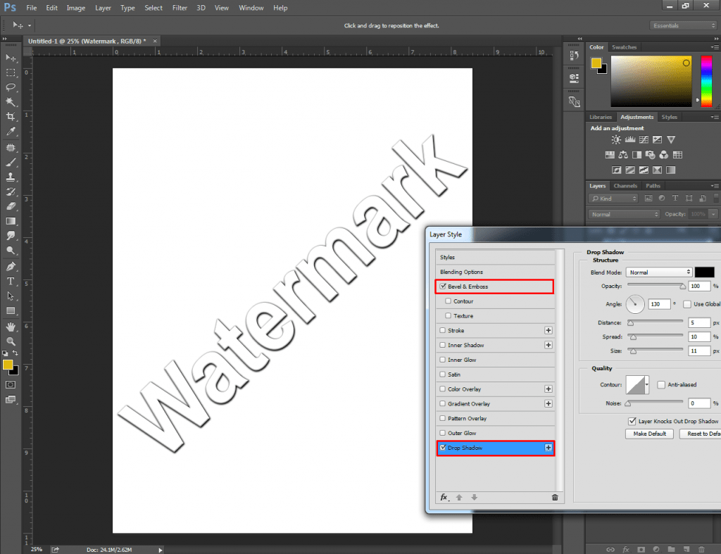 How to Turn a Logo into a Watermark