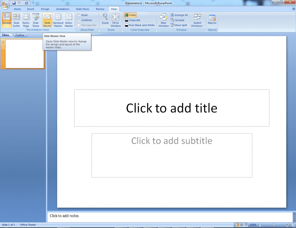 Make a Transparent Watermark in PowerPoint