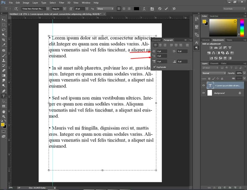 How To Do Bullet Points in Photoshop 5