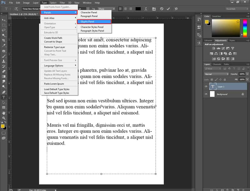 How To Do Bullet Points in Photoshop 2
