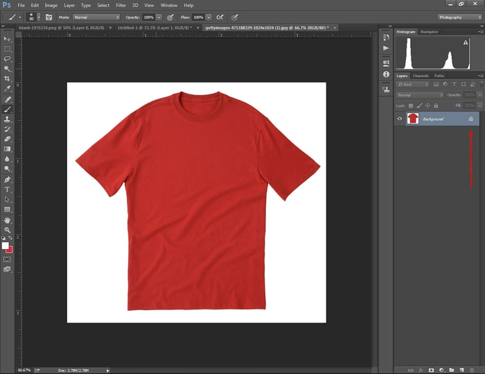 Open Cloth in Photoshop