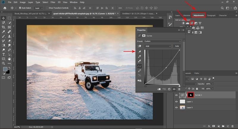 Photoshop Adjustment Menu