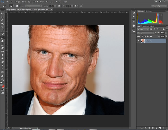 Remove Wrinkles with Photoshop
